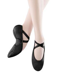 Bloch Black leather size 6.5 adult NIB Split Sole Ballet shoe