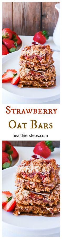 Strawberry Oat Bars (Gluten-Free Vegan)
