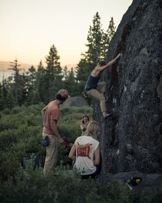 Night Bouldering in Lake Tahoe