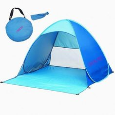 Follow our packing list to make Baby's first trip to the beach a success! CHUKCHI Automatic Pop Up Outdoors Portable Quick Beach Tent Sun Shelter amazon.com, $35.99.