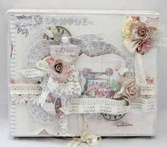 shabby chic idea for a card