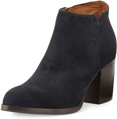 Alberto Fermani Anzio Low-Cut Suede Ankle Boot, Blue Notte Brown Suede, Black Suede, Lace Up Ankle Boots, Booty, Blue, Shoes, Women, Fashion, Moda