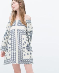PRINTED DRESS-Dresses-WOMAN | ZARA United States
