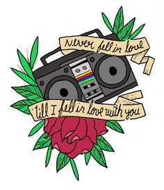 Minus the rose! Punk Rock Lyrics, Song Quotes, Funny Quotes, Soul Shine, Funny Illustration, American Traditional, Psychobilly, Face Off, Boombox