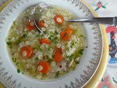 Easy Chicken Noodle Soup - Canja Simples  Tia Maria's Blog