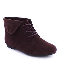 Look what I found on #zulily! MAKERS SHOES Brown Sally Ankle Boot by MAKERS SHOES #zulilyfinds