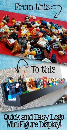 My Beloved Nemesis - Lego - Living a Creative World - Sam Decker - My Beloved Nemesis - Lego - Living a Creative World Tired of painfully stepping on little lego guys around your house? Problem solved with this inexpensive and easy minifigure display! Lego Display, Lego Minifigure Display, Lego For Kids, Lego Guys, Lego Room Decor, Mini Figure Display, Lego Wall, Lego Bedroom, Lego Mecha