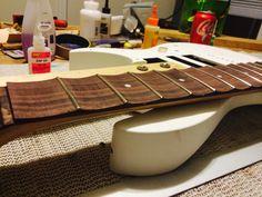 DIY Scalloping a guitar fretboard