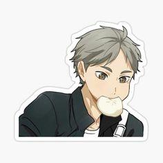 Preppy Stickers, Kawaii Stickers, Anime Stickers, Cute Stickers, Sugawara Haikyuu, Haikyuu Manga, Nishinoya, Anime Chibi, Kawaii Anime