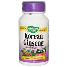 Buy Nature's Way Korean Ginseng Standardised 60 Vcaps at Megavitamins Supplement Australia,Discount on volume available. Learn more - where to buy and what are the pros & Cons Korean Ginseng 60 VCaps.