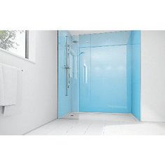 Wickes Sky Blue Acrylic 900x900mm 2 sided Shower Panel Kit