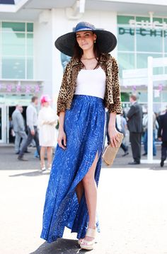 Style Hunter From Epsom Derby: The Thigh-Baring Split Skirt!