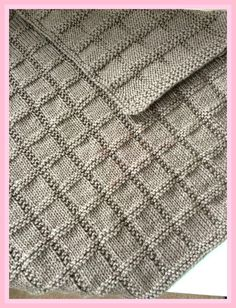 Easy Blanket PATTERN, only in ENGLISH, written instructions with diagram Einfache Decke Muster stricken Baby Muster Strickmuster Baby Knitting Patterns, Free Knitting, Stitch Patterns, Crochet Patterns, Knitting Needles, Knitted Baby Blankets, Knitted Blankets, Easy Knit Blanket, Knitted Afghans