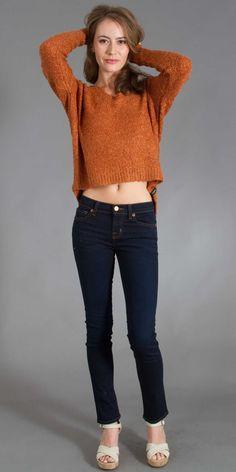 RVCA Needle Park Sweater in Burnt Orange-$66.00
