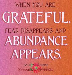 Be grateful.   #grateful #abundance #lifequote
