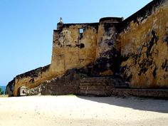 Fort Jesus is a Portuguese fort built in 1593 by order of King Philip I of Portugal (King Philip II of Spain), then ruler of the joint Portuguese and Spanish Kingdoms, located on Mombasa Island to guard the Old Port of Mombasa, Kenya. It was built in the shape of a man (viewed from the air), and was given the name of Jesus.