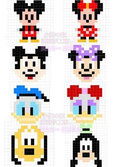 Mickey mouse and friends pixel art Hama Beads Patterns, Loom Patterns, Beading Patterns, Diy Perler Beads, Perler Bead Art, Cross Stitching, Cross Stitch Embroidery, Crochet Pixel, Modele Pixel Art