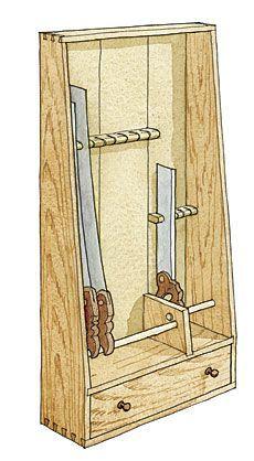 Convenient way to store handsaws - Fine Woodworking