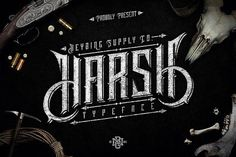 Harsh Typeface + Bonus (Intro Sale) by Heybing Supply Co. on @creativemarket