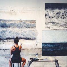 Artist at work. Zaria Lynn @zarialynn photographed by @westonserame #dcnart