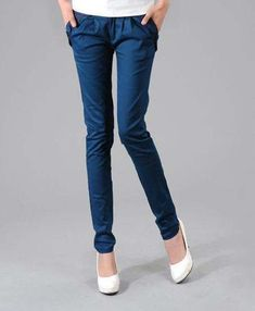Women Pencil Pants, Slim Trousers