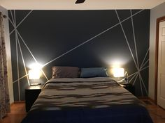 Interior Home Design Trends For 2020 - New ideas Bedroom Wall Designs, Accent Wall Bedroom, Bedroom Decor, Bedroom Murals, White Bedroom, Bedroom Furniture, Room Wall Painting, Home Interior Design, House Design