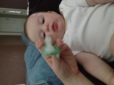 Freeze water inside soothie pacifiers- an instant icy treat for teething babies