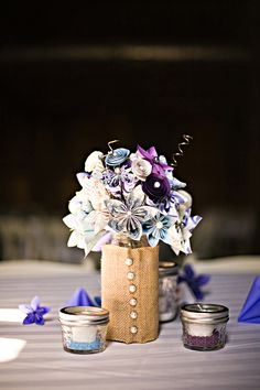 Our Wedding - Paper flower center piece
