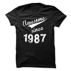 Awesome Since 1987 T-Shirts, Hoodies, Sweatshirts, Tee Shirts (22$ ==► Shopping Now!)