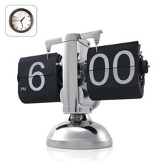 Amazon.com: Niceeshop Retro Flip Down Clock - Internal Gear Operated: Home & Kitchen  I want this now, not in my future home. lol.