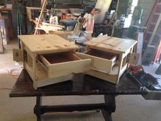 End tables locking compartment