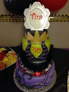 Maleficent cake you sooo need this for your 35th!!