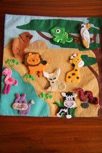 Quiet book Page 5 - Habitat des animaux sauvages - Wild animals habitat - Meli Melo Deco