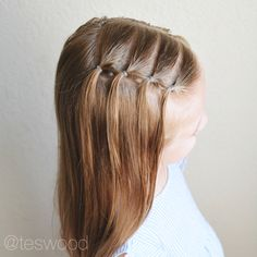 Waterfall elastic style toddler hairstyle @teswood