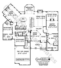 Ponderosa  House Plan # 01424, Floor Plan, Mountain Style House Plans, Ranch Style House Plans