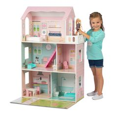 trad Large Dolls House role Play Km021
