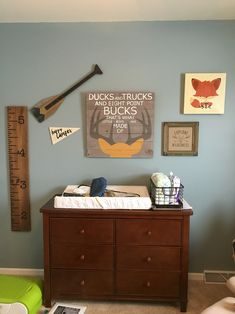 Camping/wilderness theme! Perfect for a little boys room!