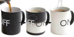 Novel OFF Changing Ceramic Mug Coffee Cup (Black)