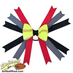 Handmade Softball Hair Bow made from real softball leather Softball Hair Braids, Softball Hairstyles, Prom Hairstyles, Messy Bun With Braid, Braided Buns, Messy Buns, Princess Hairstyles, Little Girl Hairstyles, Braided Bun Hairstyles