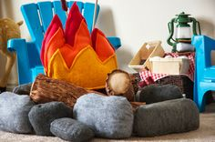 restlessrisa: DIY felt Campfire set #kids #sewing