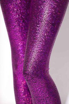 Shattered glass fuschia leggings