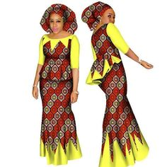 2 Piece Set Top and Skirt Set of African Ankara dress Plus Head Scarf – Owame African Fashion Traditional, African Inspired Fashion, African Print Fashion, Africa Fashion, African Wear Dresses, Latest African Fashion Dresses, African Attire, African Outfits, African Print Dress Designs