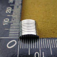 50 Unids 10*1mm N50 Super Fuerte de Tierras Raras Imanes de NdFeB Imán de Neodimio de 10mm * 1mm Cilindro redondo Hoja Permanente