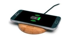 WoodPuck Bamboo Edition portable charger. Love finding tech that doesn't make your whole home look like an office.