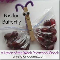 BBB Letter of the week: for each week you learn a letter, incorporate a snack, craft and also a book to help cement the letters in your kids minds Letter B Activities, Preschool Letters, Learning Letters, Toddler School, School Fun, Preschool Snacks, Preschool Activities, Alphabet Letter Crafts, Alphabet Board