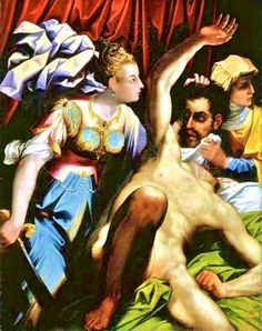 Judith with the Head of Holofernes by theItalian Mannerist painter Jacopo Coppi (1523-1591