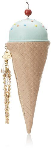 Betsey Johnson Ice Cream Cone Wristlet Clutch,Mint,One Size Betsey Johnson,http://smile.amazon.com/dp/B00INGBCZ0/ref=cm_sw_r_pi_dp_WQLAtb0GGEGVHKCH
