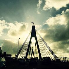 Driveway to Heaven! ANZAC Bridge looking beautiful against the morning sky, courtesy of @miss_kimberley #ilovesydney