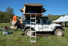 Main Line Overland - Vermont Overland Rally - Jeep Rubicon with roof-top tent