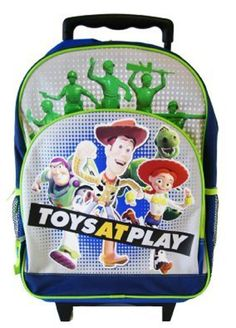 #disney toy story rolling backpack - full sz woody buzz and jessy wheeled from $59.32